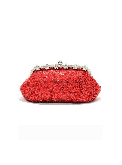 Red Stain Rhinestone Wedding Handbags/Clutches