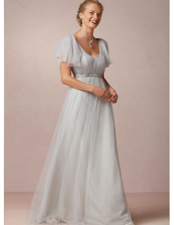 LEANDRA - Bridesmaid A-line Floor length Tulle Sweetheart Wedding party dress