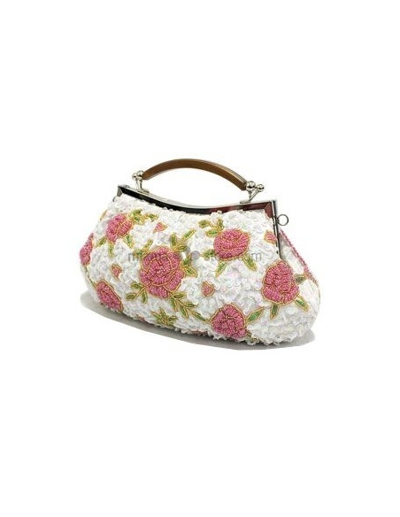 White Stain Beading Special Occasion Handbags/Clutches
