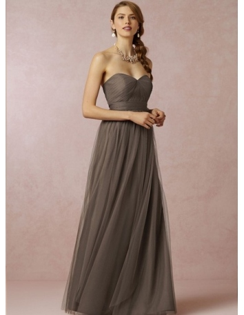 BEYONCE - Bridesmaid A-line Floor length Tulle Sweetheart Wedding party dress