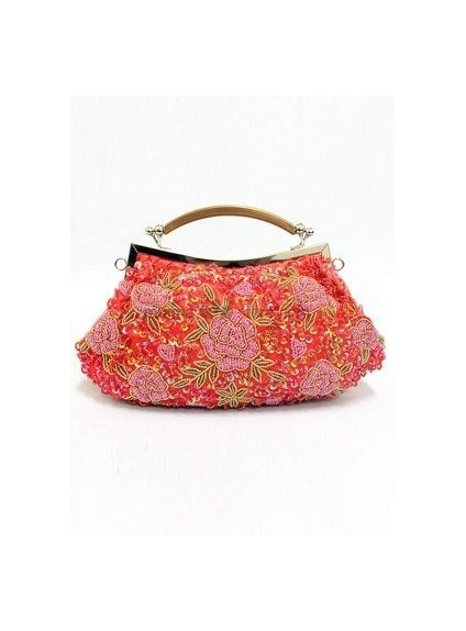 Red Stain Beading Special Occasion Handbags/Clutches