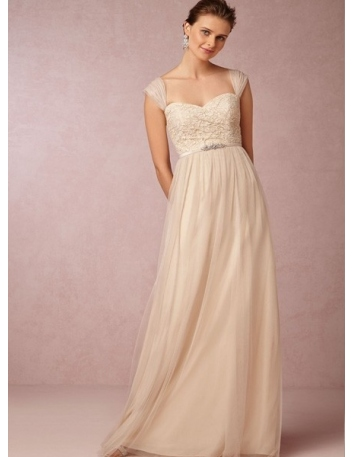 ADRIANNA - Bridesmaid Sweetheart Floor length Tulle Lace Wedding party dress