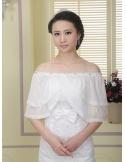 Sleeveless Tulle Bridal jacket Wedding caplet