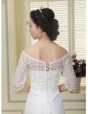Half sleeves Lace Bridal jacket Wedding wrap