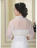 Three quarter sleeve Tulle Bridal jacket Wedding wrap