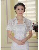 Short Sleeve Lace Bridal jacket Wedding wrap