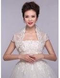 Short Sleeve Tulle Bridal jacket Wedding wrap