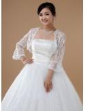 Long Sleeve Lace Bridal jacket Wedding wrap