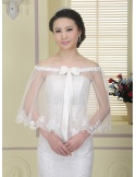 Sleeveless Tulle Bridal jacket Wedding caplet