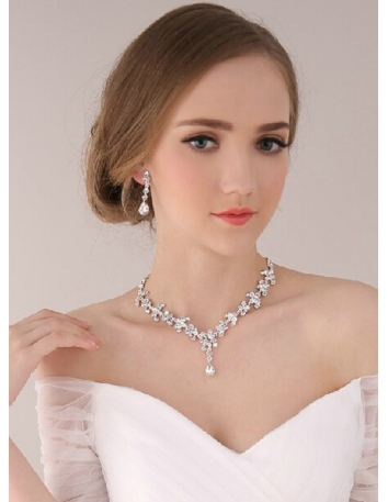 Beautiful Alloy Wedding jewelry Including Necklace And Earrings