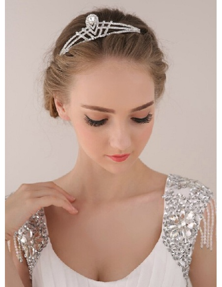 Alloy Silver Wedding tiara