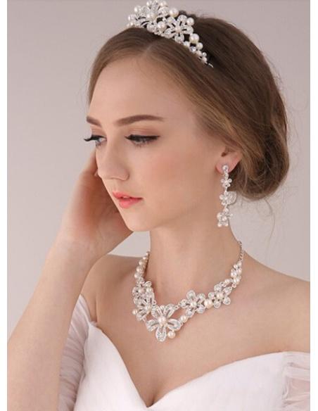 Alloy Silver Wedding tiara