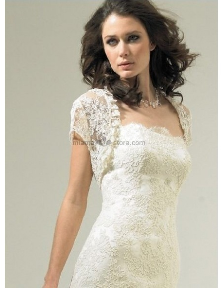 White Short sleeves Lace Bridal jacket Wedding wrap