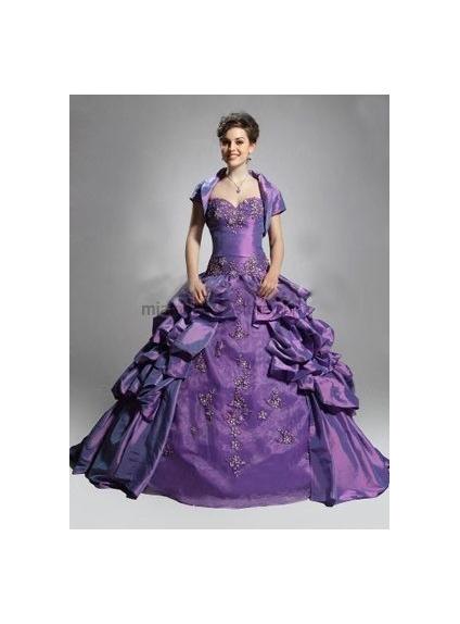 Regency Short sleeves Taffeta Bridal jacket Wedding wrap