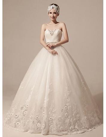 7a50a7a88650 Vestito da Sposa Elegante Principesco Economico Online con Scollo a Cuore e  Corpetto Bustier ...