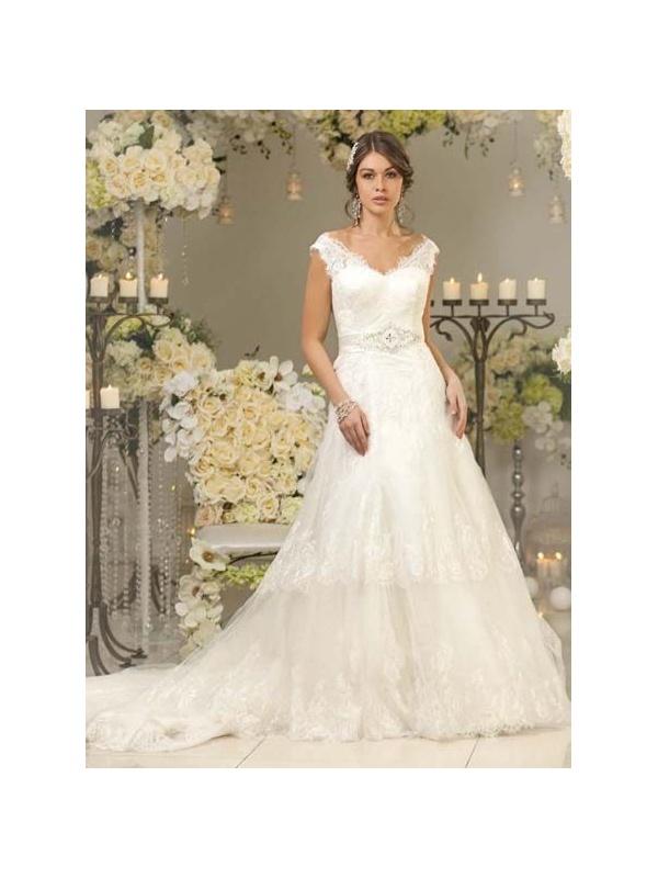 c4b4b540f6ca Abiti da sposa con balze e pizzo – Abiti alla moda