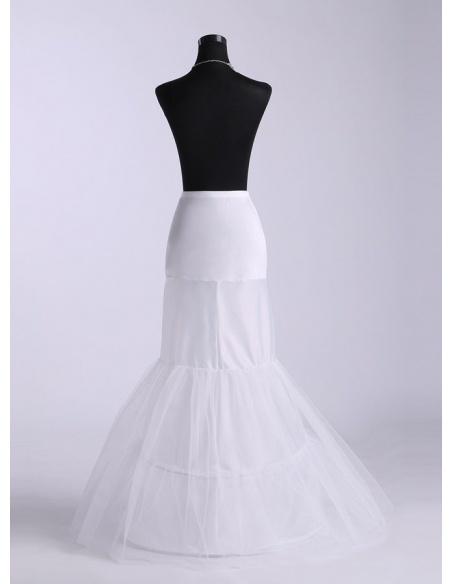 Tulle Taffeta Mermaid and Trumpet gown slip Short flare slip  Medium fullness slip 2 Tier Wedding petticoat
