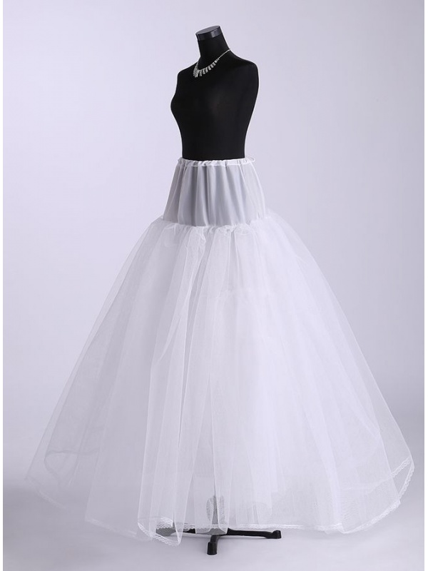 Tulle a line slip ball gown slip full gown slip 4 tiers for Tulle petticoat for wedding dress
