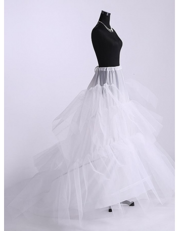 Tulle Ball gown slip Full gown slip Chapel train 3 Tiers Wedding petticoat