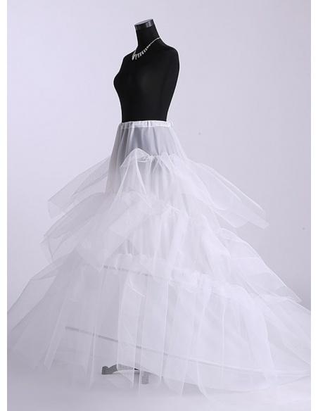 Tulle Ball gown slip Full gown slip Chapel train 3 Tiers Wedding petticoat