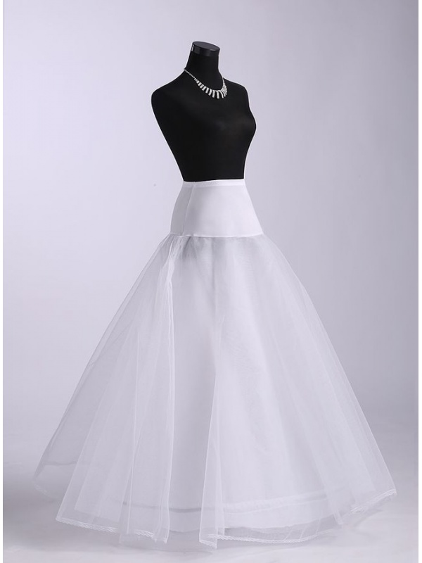 Tulle a line slip full gown slip 2 tiers wedding petticoat for Tulle petticoat for wedding dress