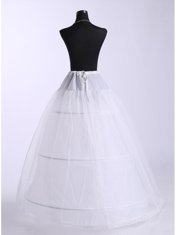 Tulle a line slip ball gown slip full gown slip 3 tiers for Tulle petticoat for wedding dress