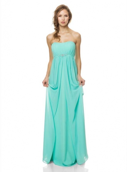 4d61a0ee0722 Bridesmaid Sheath Column Floor length Chiffon Strapless Wedding party dress
