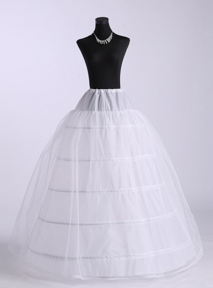 Tulle a line slip ball gown slip full gown slip wedding for Tulle petticoat for wedding dress