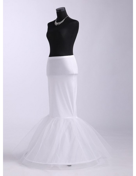 Tulle Taffeta Mermaid and Trumpet gown slip Wedding petticoat