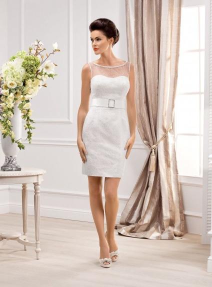 Short Sheath Shortmini Lace Sweetheart Wedding Dress