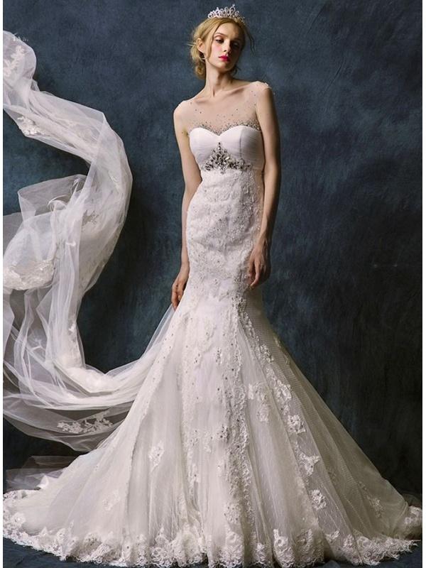 Abiti da sposa pizzo a sirena  Blog su abiti da sposa Italia