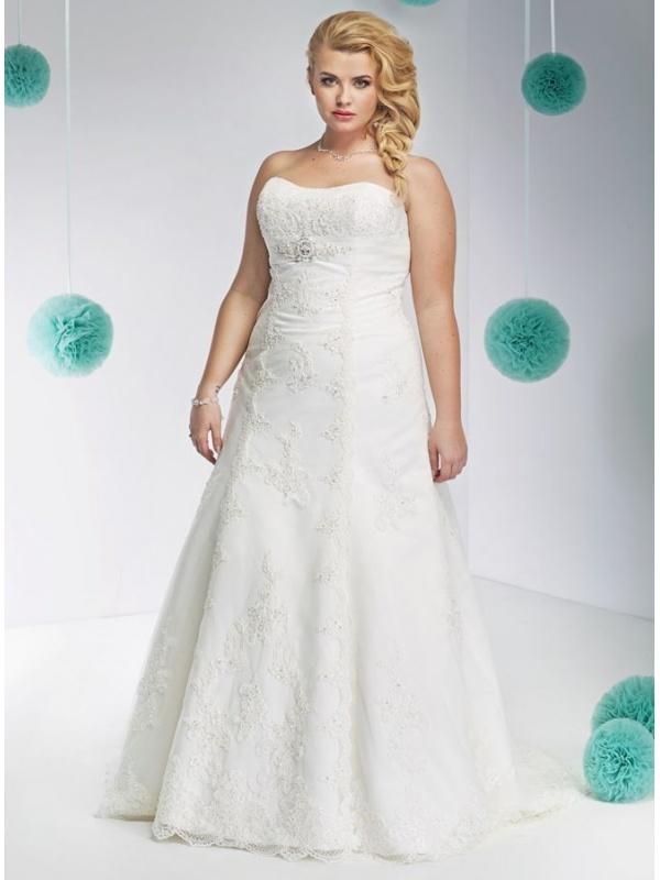 Vestito da Sposa Elegante in Tulle con scollo a Cuore e Applicazioni ...