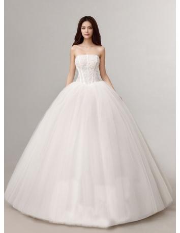robe de mari e en tulle vaporeux corset rigide jupe