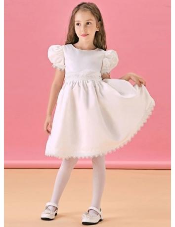 Vestito per Prima Comunione bambina economico Semplice a maniche corte