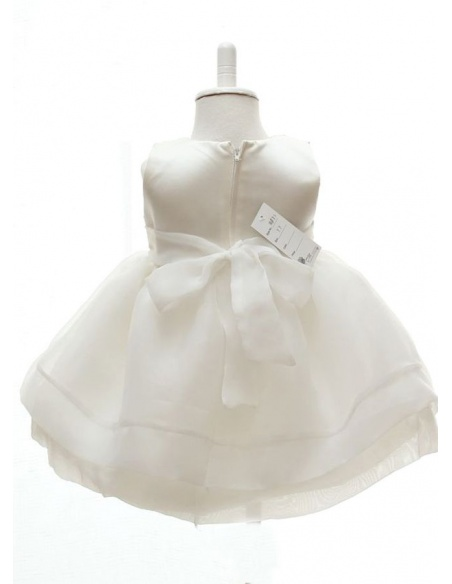 Christening Gowns A-line Organza High round/Slash neck Wedding party dress
