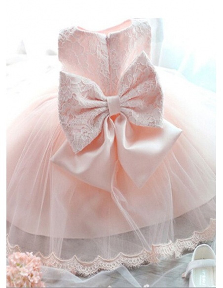 Christening Gowns A-line Tulle High round/Slash neck Wedding party dress