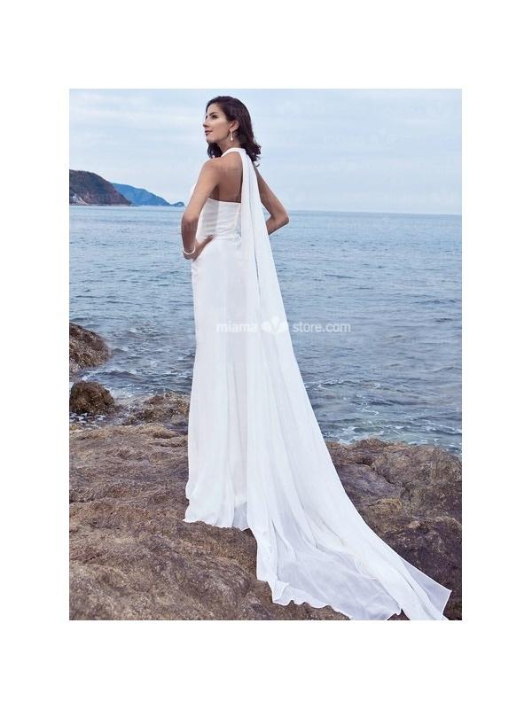 Wedding Dress with Watteau Train