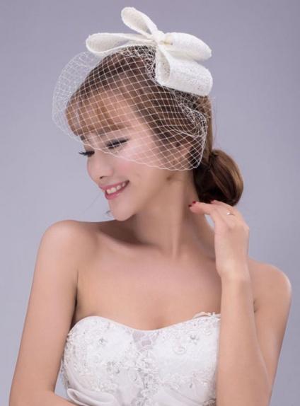 Photo color Tulle Wedding Bridal Headpiece
