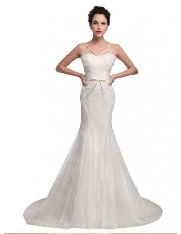 Spaghetti Straps Bridal Gowns Spaghetti Wedding Dresses Free Shipping