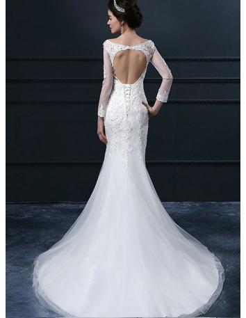 Vestiti da sposa aperti dietro