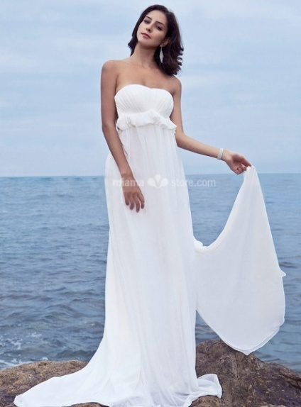 RITA - Sheath Strapless Cheap Watteau train Chiffon Wedding dress