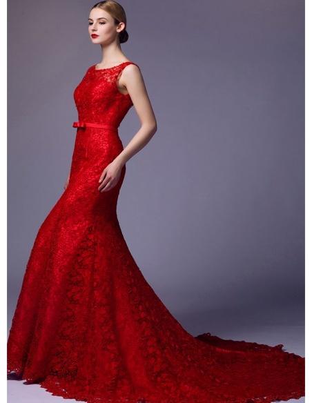 9671aed382de ... Abito da Sposa Rosso a sirena in pizzo macrame disponibile in tutti i  colori. 18. Prezzo scontato
