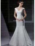 VIVIAN - Mermaid V-neck Cheap Floor length Taffeta Wedding dress
