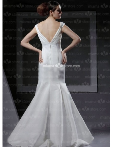 VIVIAN - Mermaid V-neck Cheap Floor length Taffeta Wedding dress