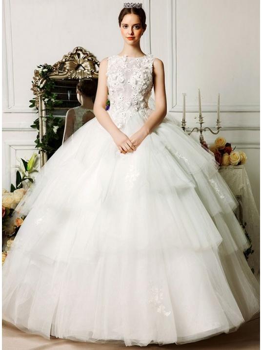 robe de mari e style princesse jupe tr s ample en tulle et