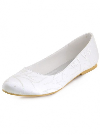 Ballerines COLLECTION MARIAGE satin blanc 36 JlukH6e