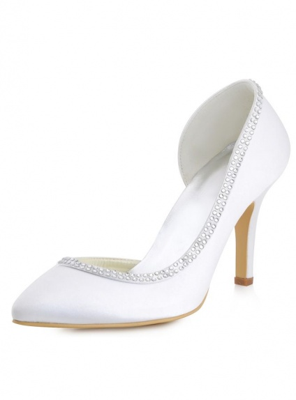 Scarpe da Sposa comode chiuse avanti a punta disponibili in vari colori