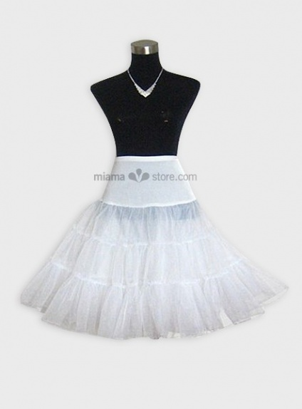 Tulle A-Line slip Half slip 3 Tiers Wedding petticoat