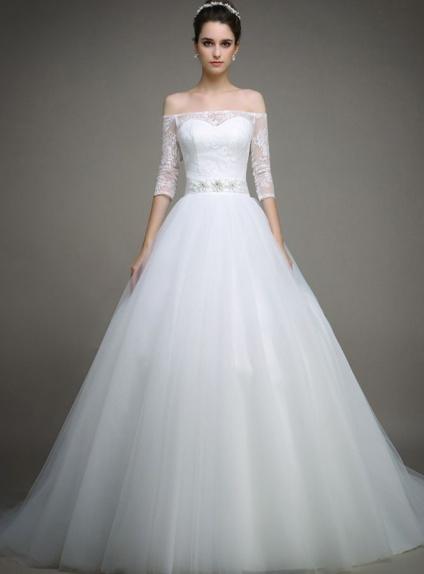 robe de mari e d collet coeur paules d couvertes manches