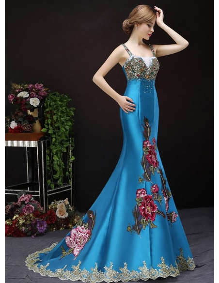 Elegant dresses Trumpet/Mermaid Chapel train Satin Sweetheart Occasion dress